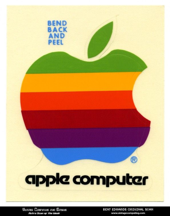 vintage Apple Computer Sticker | stream of consciousness