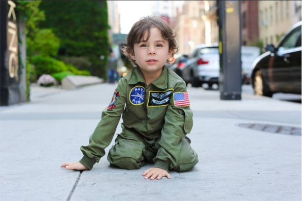 """Why are you wearing a pilot's outfit?"" ""I wear it every day."" ""Do you want to be a pilot when you grow up?"" ""No, I want to be a teacher."" ""Why aren't you wearing a teacher's outfit?"" ""I don't have one."""